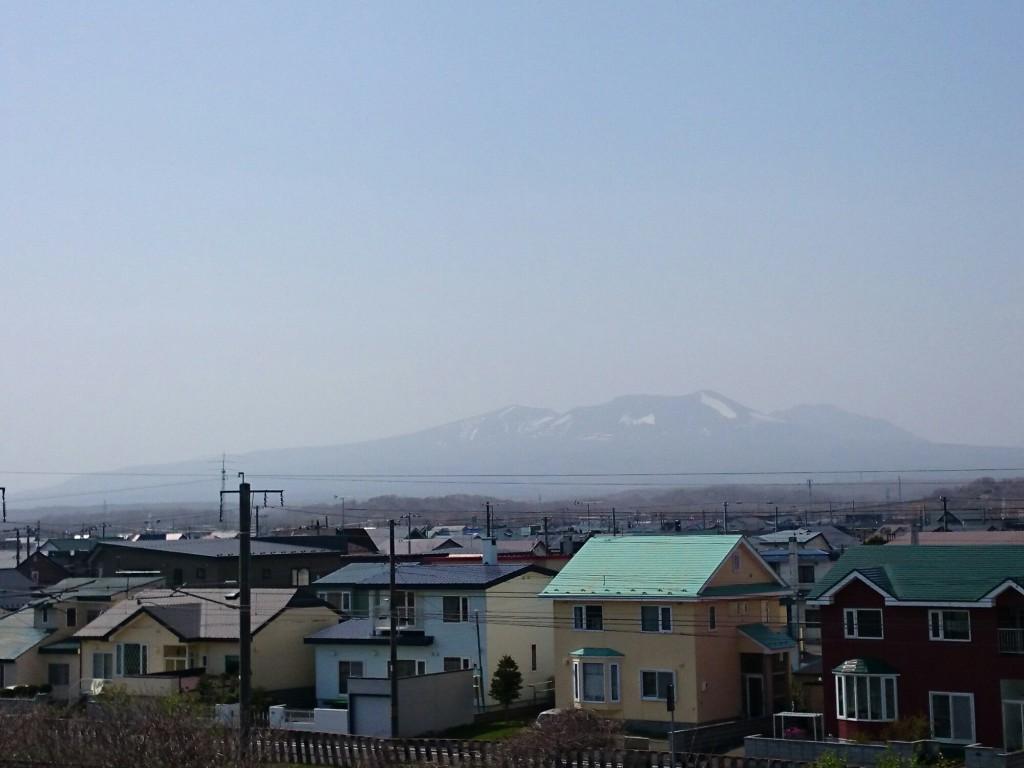 樽前山が見えた。