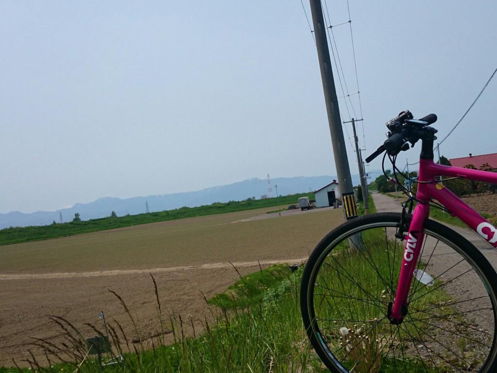 クロスバイクCYLVA F24で石狩川まで来たよ