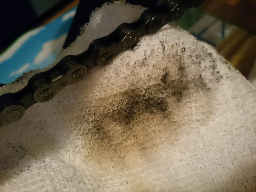 クロスバイクのチェーン掃除