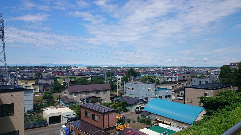 星置と銭函の市境からみる札幌市街地