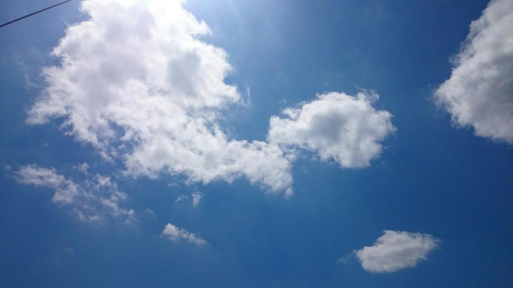 北海道の7月の空