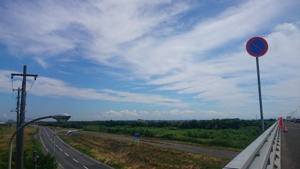 札幌から江別までのサイクリング。豊平川を渡る。