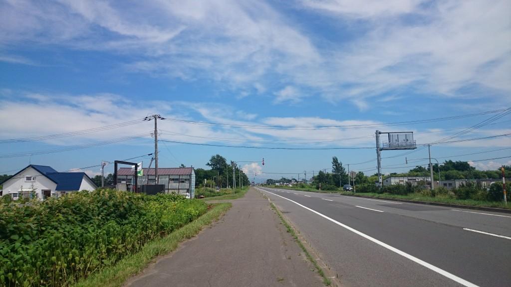 札幌近郊のサイクリング途中で見た雲がキレイ
