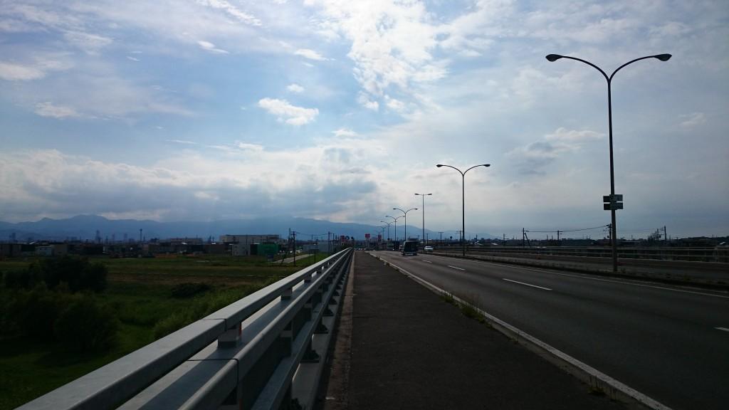 クロスバイクで札幌まで帰ってきた