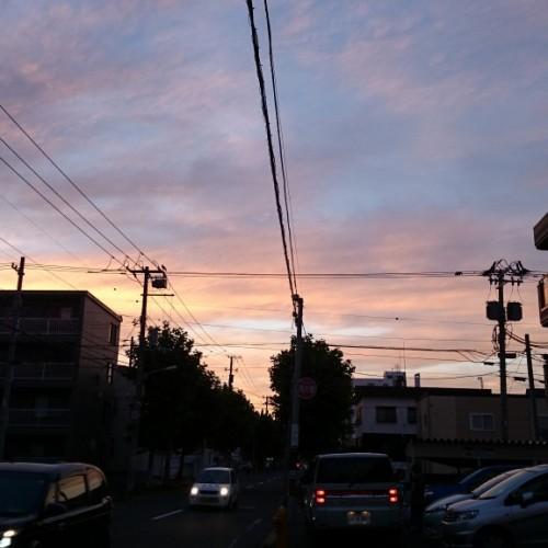 帰り道の夕焼け
